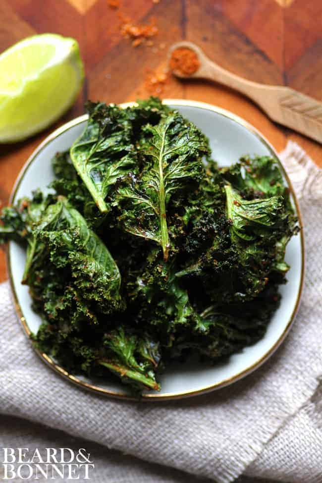 Taco Spiced Kale Chips {Beard and Bonnet} #glutenfree #vegan