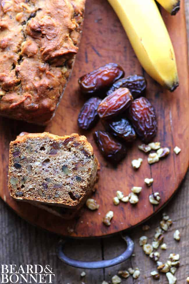 Banana Date Bread {Beard and Bonnet} #glutenfree