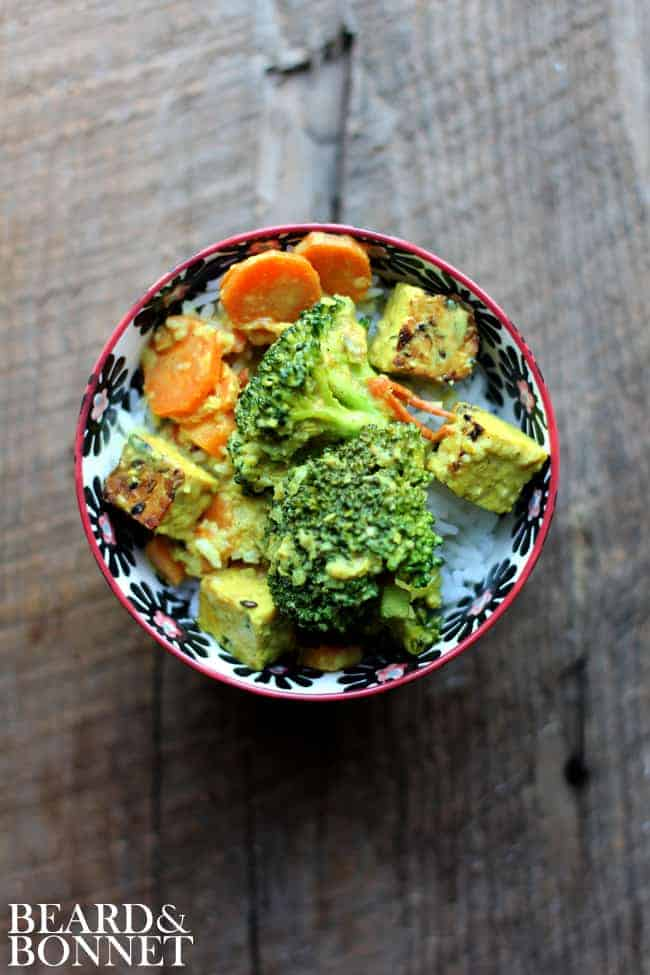 Lemongrass Curry with Broccoli and Tempeh {Beard and Bonnet} #gfree #vegan
