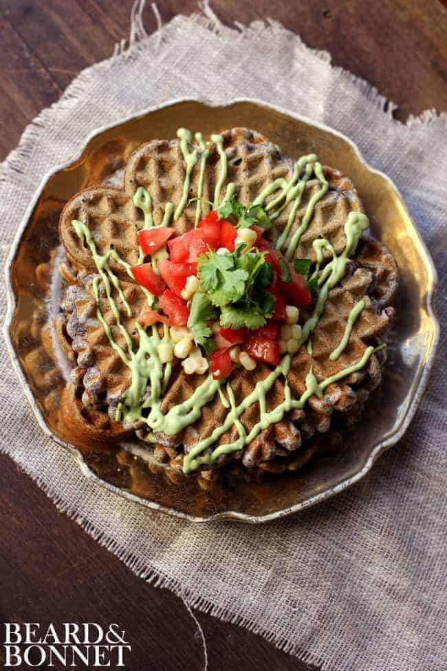 Savory Black Bean Flour Waffles {Beard and Bonnet} #gfree #glutenfree