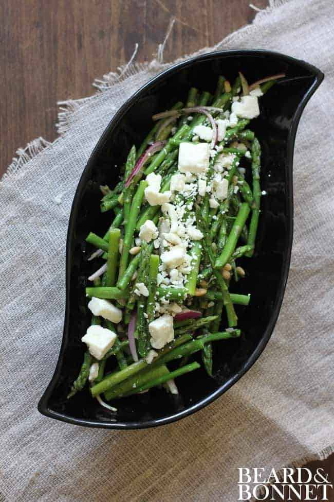 Simple Asparagus Salad {Beard and Bonnet} #gfree #glutenfree