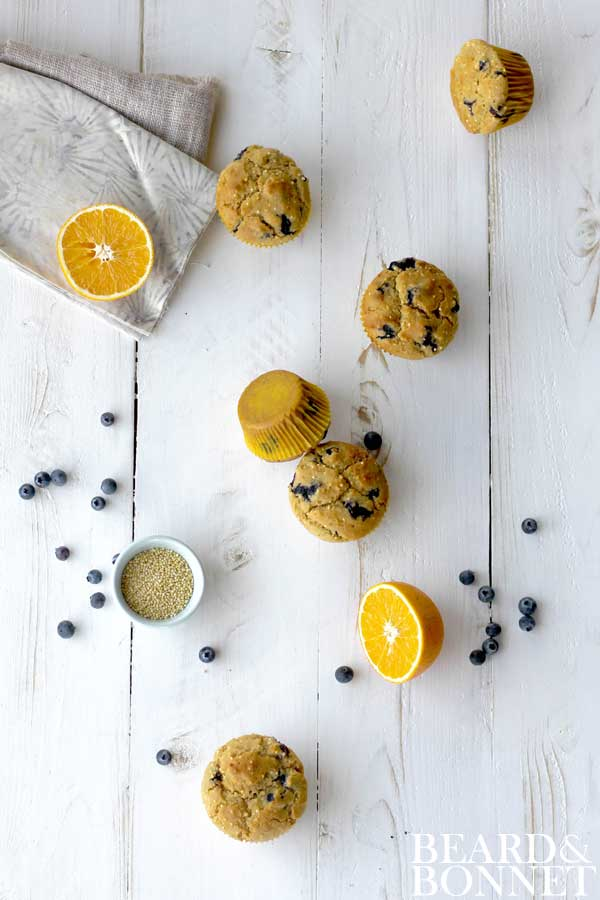 Blueberry Millet Muffins {Beard and Bonnet} #glutenfree